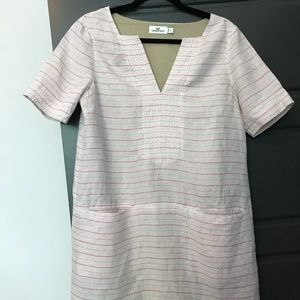 Vineyard Vines Linen Striped Dress w/ Pockets